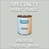 RAL 9018 Papyrus White Gallon Can