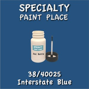 38/40025 interstate blue-Tiger-touchup-paint 2oz bottle with brush