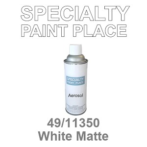 49/11350 White Matte - Tiger 16oz aerosol spray can