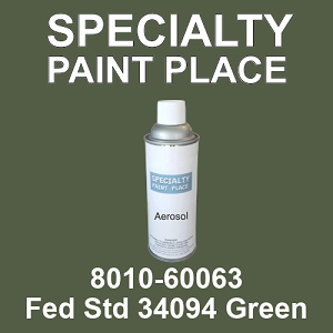 8010-60063 Fed Std 34094 Green - TCI 16oz aerosol spray can