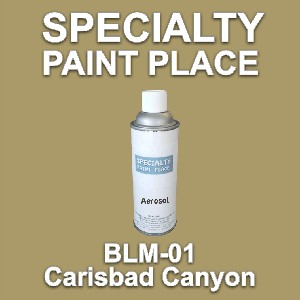BLM-01 carisbad canyon Bureau of Land Management touch-up paint 16oz aerosol can