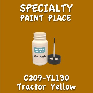 C209-YL130 tractor yellow 2oz bottle with brush