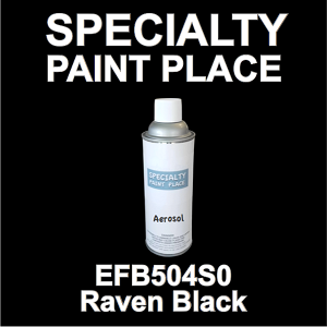EFB504S0 Raven Black Axalta touch-up paint 16oz aerosol can