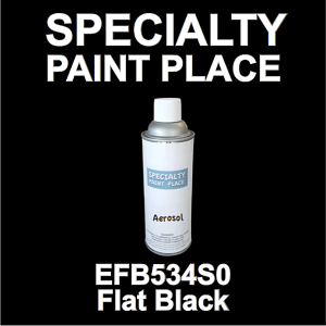 EFB534S0 Flat Black Axalta touch-up paint 16oz aerosol can