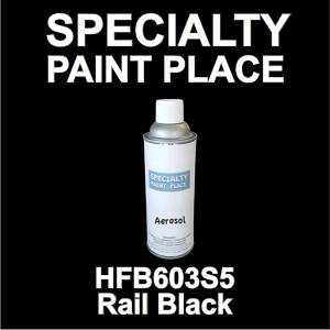 HFB603S5 rail black Axalta touch-up paint 16oz aerosol can