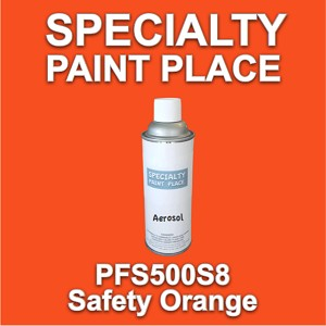 PFS500S8 safety orange Axalta touch-up paint 16oz aerosol can