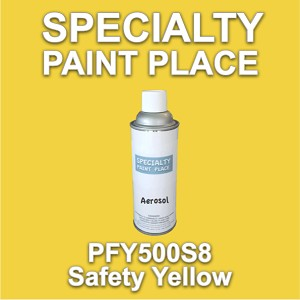 PFY500S8 safety yellow Axalta touch-up paint 16oz aerosol can
