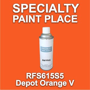 RFS615S5 depot orange v Axalta touch-up paint 16oz aerosol can