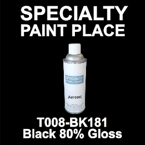 T008-BK181 black 80 gloss Cardinal touch-up paint 16oz aerosol can
