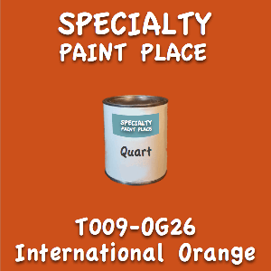 T009-OG26 international orange quart