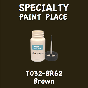 T032-BR62 brown 2oz bottle with brush