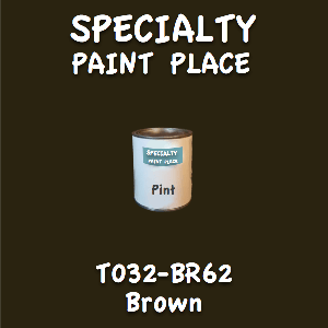 T032-BR62 Brown Pint Can