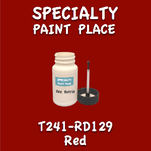 T241-RD129 red 2oz bottle with brush