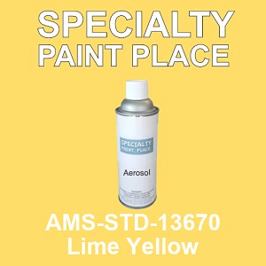 AMS-STD-13670 Lime Yellow - Federal Standard 595 16oz aerosol spray can