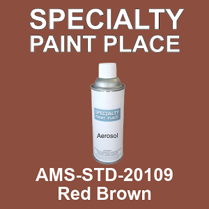 AMS-STD-20109 Red Brown - Federal Standard 595 16oz aerosol spray can
