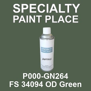 P000-GN264 FS 34094 OD Green - Cardinal 16oz aerosol spray can
