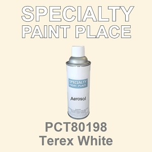 PCT80198 terex white PPG touch-up paint 16oz aerosol can