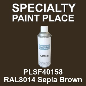 PLSF40158 RAL8014 Sepia Brown - IFS 16oz aerosol spray can