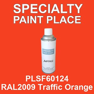 PLSF60124 RAL2009 Traffic Orange - IFS 16oz aerosol spray can