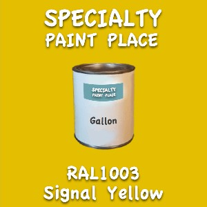 RAL 1003 Signal Yellow Gallon Can