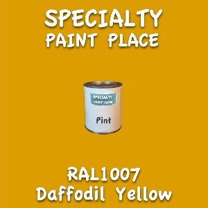 RAL 1007 daffodil yellow pint