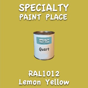 RAL 1012 Lemon Yellow Quart Can