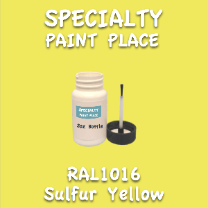 RAL 1016 sulfur yellow 2oz bottle with brush