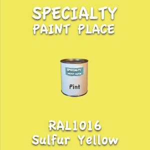 RAL 1016 sulfur yellow pint
