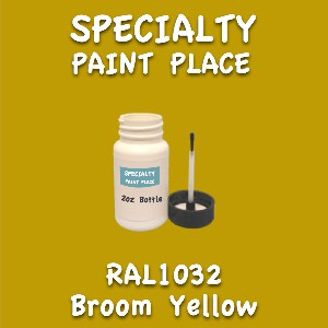 RAL 1032 broom yellow 2oz bottle with brush