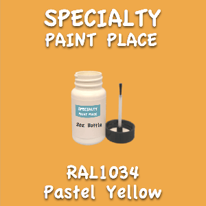 RAL 1034 pastel yellow 2oz bottle with brush