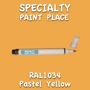 RAL 1034 pastel yellow pen