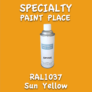 RAL 1037 sun yellow 16oz aerosol can