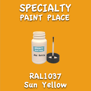 RAL 1037 sun yellow 2oz bottle with brush