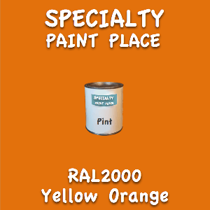 RAL 2000 yellow orange pint