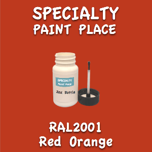 RAL 2001 Red Orange 2oz Bottle with Brush
