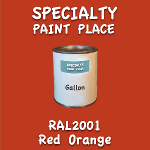 RAL 2001 Red Orange Gallon Can
