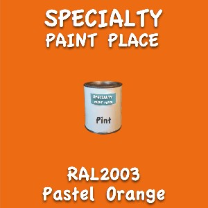 RAL 2003 pastel orange pint
