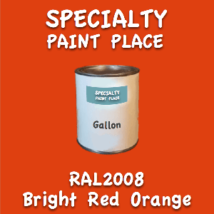 RAL 2008 Bright Red Orange Gallon Can