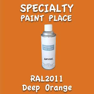 RAL 2011 deep orange 16oz aerosol can