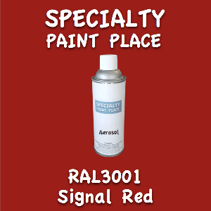 RAL 3001 signal red 16oz aerosol can