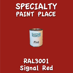 RAL 3001 signal red pint