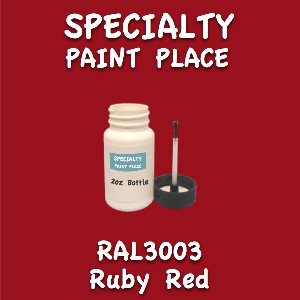 RAL 3003 ruby red 2oz bottle with brush