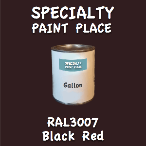RAL 3007 Black Red Gallon Can