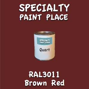 RAL 3011 Brown Red Quart Can