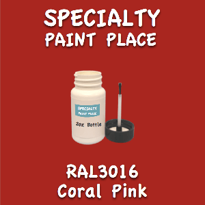 RAL 3016 Coral Pink 2oz Bottle with Brush