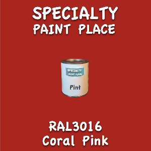 RAL 3016 Coral Pink Pint Can