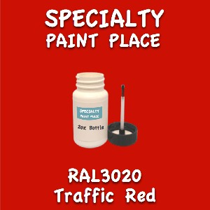 RAL 3020 Traffic Red 2oz Bottle with Brush