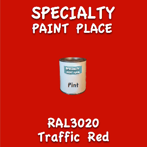 RAL 3020 traffic red pint