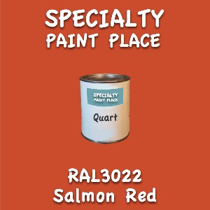 RAL 3022 Salmon Red Quart Can