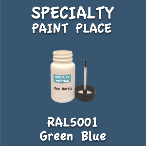 RAL 5001 green blue 2oz bottle with brush